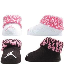 Nike Jordan Newborn Baby Booties (0-6M) Pink, 0-6 Months