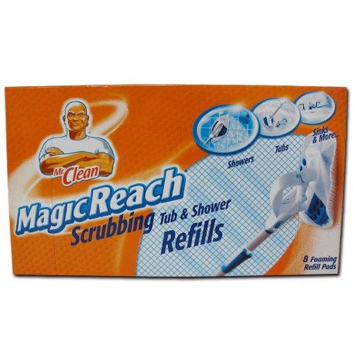 48 Count Mr. Clean Magic Reach Scrubbing Tub and Shower Pads, 6 Pack - 8 Count Ea = 48 Refills Magic Reach