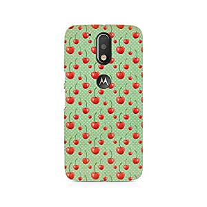 Ebby Cherry Overdose Green Premium Printed Case For Moto G4/G4 Plus