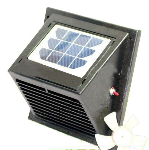 Solatron Wall Solar Powered Vent/Fan, for Boat, Bathroom, Basement, Greenhouse, Shed, and More ...