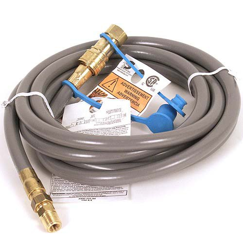 AZ Patio Heaters NG-HOSE Natural Gas Rated Hose with Quick Connect, 10-Feet