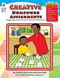img - for Creative Homework Assignments, Grades K - 1: Engaging Take-Home Activities That Reinforce Basic Skills by DeGeronimo Linda Diehl Anne (2007-03-01) Paperback book / textbook / text book