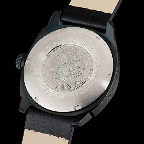 Gigandet Red Baron II Herren Automatik Fliegeruhr - Armbanduhr mit analoger Anzeige - 100m/10atm wasserdicht mit Datumsanzeige, schwarzem Lederarmband und schwarzem Zifferblatt - G9-004 7