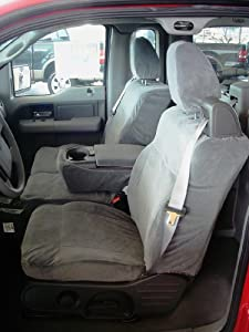 Exact Seat Covers, FD9 F369/F366 V7, 2004-2008 Ford F150 XLT XCab Front and Back Set Custom Exact Fit Seat Covers, Gray Velour