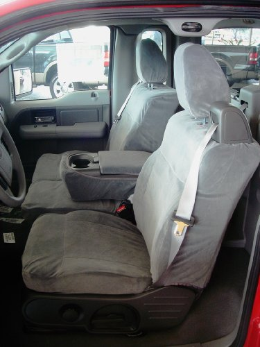 Durafit Seat Covers F369-V7 - Ford F150 Xcab Front 40/20/40.Seat belts come from top of seat, NOT FOR DOUBLE CAB Gray Automotive Velor