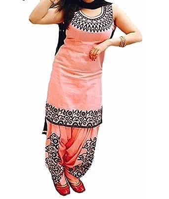 The Diwa Label Women's Silk Anarkali Dress Material (Ec_534_Kurti_Free Size)