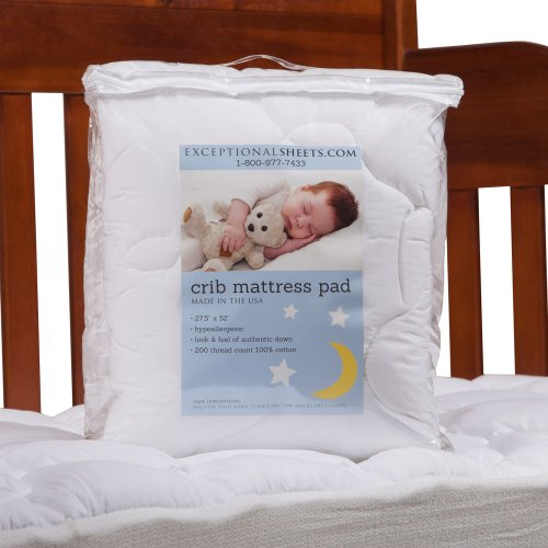 CribToddler Mattress Pad by ExceptionalSheets Bamboo