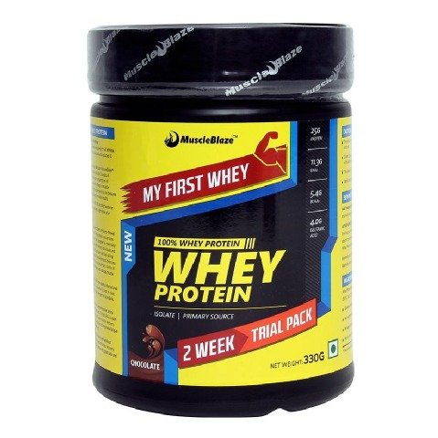 MuscleBlaze Whey Protein, My First Whey- Chocolate 0.33 kg / 0.8 lb