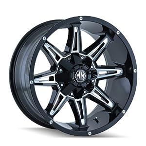 Mayhem Rampage 8090 Black Wheel with Milled Spokes (18×9″/8x180mm)