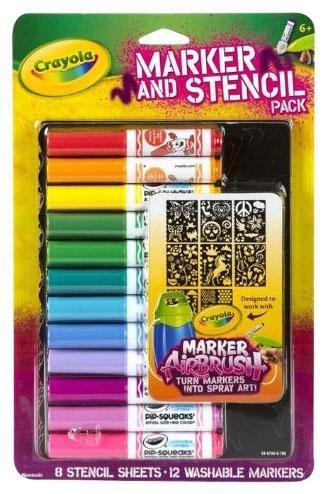 Crayola Girl Airbrush Marker and Stencil Pack JungleDealsBlog.com