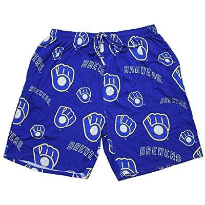 BIG & TALL MLB Milwaukee Brewers Mens Sleepwear / Pajama Shorts