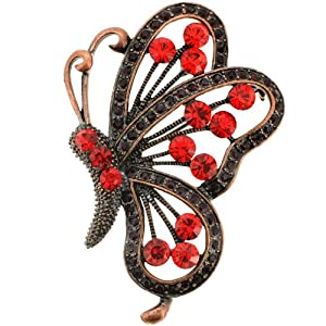 Vintage Ruby Butterfly Pin Brooch/Pendant