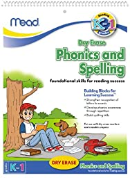 Mead Dry Erase Phonics and Spelling Book, Grades K-1 (54220)