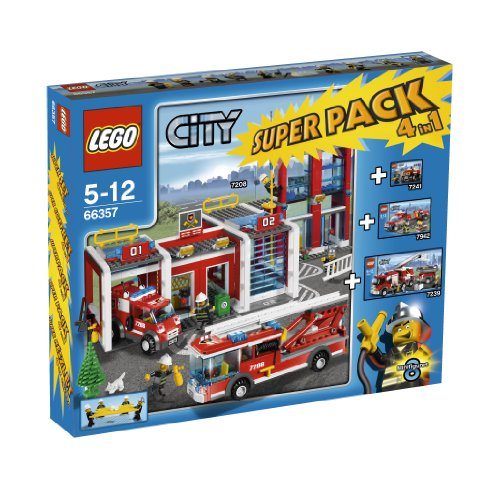 LEGO City 66357: Fire Station Super Pack 4 in 1