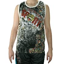 Ed Hardy Mens Panther Sport Tank Top - Black - Medium