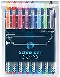 Schneider Slider Basic XB Ballpoint Pen, Set of 8, Assorted Colors (151298)