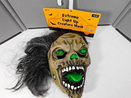 Extreme Light Up Creature Mask - Scary Monster Lite Mask