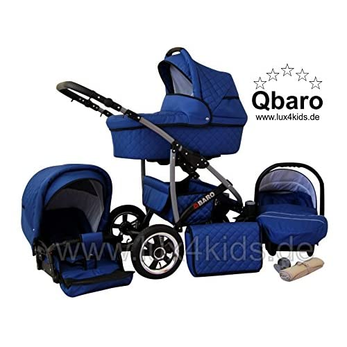 True Love Q Baro 3 in 1 Combi stroller with car seat (rain cover, mosquito net, car seat adapter, swivel wheels...