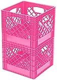 Buddeez Breast Cancer Awareness Milk Crates, 2-Pack