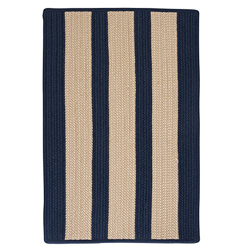 Boat House Polypropylene Braided Sample Swatch Rug, Navy