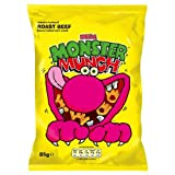Walkers Mega Monster Munch Roast Beef Flavour Baked Corn Snack 12x85g