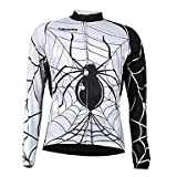 XS Kooplus Quick Dry Men's Long Sleeve Cycling Jersey (Spider Design) , M