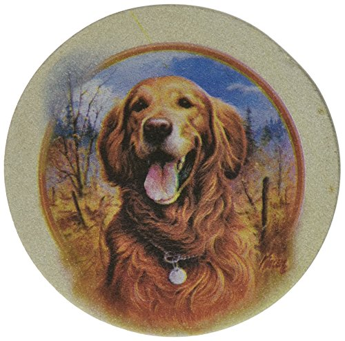 Thirstystone Drink Coaster Set, Killen's Golden Retriever