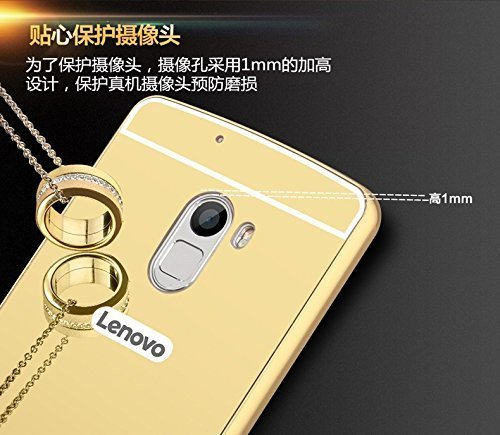 timeless design b05c8 fc947 SDO™ Acrylic Mirror Back Cover Case with Bumper Case for Lenovo Vibe K4  Note - Gold