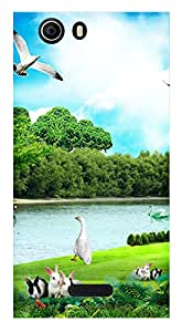 WOW Printed Designer Mobile Case Back Cover For Micromax Canvas Nitro 2 E311