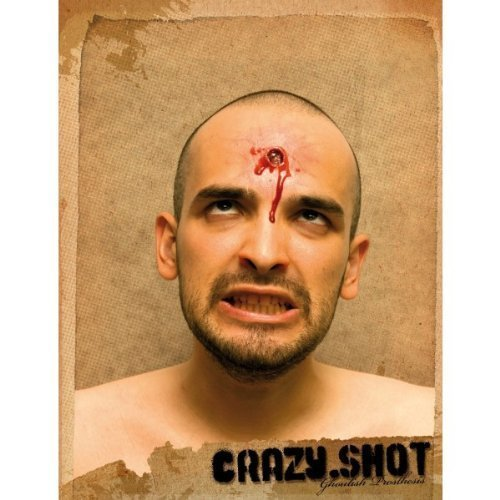 Crazy Shot Fake bullet hole with blood by GHOULISH