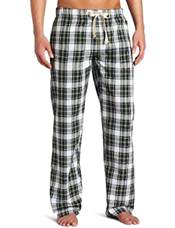 Bottoms Out Men's Plaid Frat Pack Sleep Pant, Green, Medium