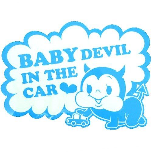 《BABY IN THE CAR/赤ちゃんが乗ってます》ステッカー【03ブルー】☆カー用品通販☆
