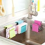 Bluelover-Serviette-ponge-Brosse-vier-Chiffons-stockage-ventouse--laver-Outils-de-cuisine-rack-rose-rouge