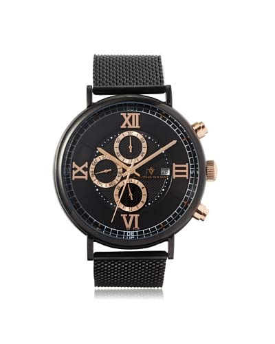 Christian Van Sant Men's CV1124 Somptueuse Black Stainless Steel Watch