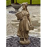Large Garden Statues - Country Girl Stone Figurine Sculpture