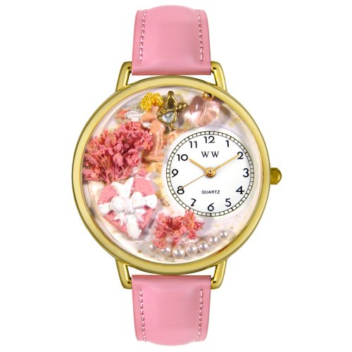 Whimsical Watches Unisex G1220024 Valentine's Day Pink Leather Watch