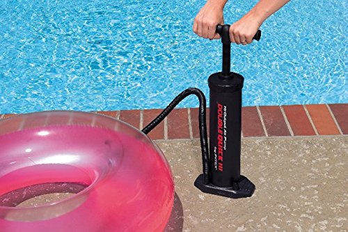 Intex double quick iii swimming pool inflatable float hand for Pool floats design raises questions
