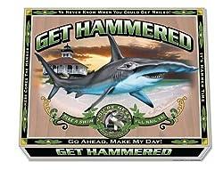 Get Smoked Fishing T-shirt - Get Hammered (Hammerhead Shark), XXXL