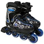 Unlimited Rollers ajustables Noir/Bleu