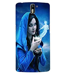 ColourCraft Fantasy Girl Design Back Case Cover for OnePlus One