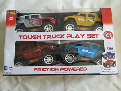 Tough Truck Friction Powered Play Set 4 Pack - 1