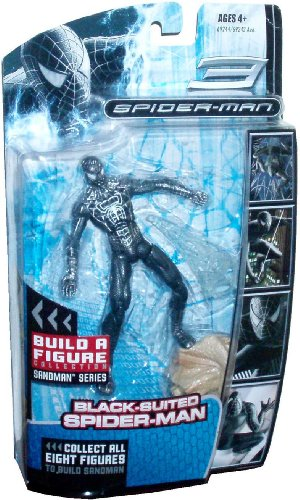 "Buy Low Price Hasbro Marvel 2007 Movie ""Spider-Man 3″ Sandman Series 6 Inch Tall Action Figure : Black-Suited Spider-Man with Shooting Web and Sandman's Left Leg (B003589WTE)"