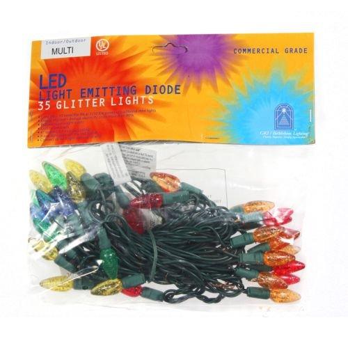 gki bethlehem lighting 35 light glittered c6 amazoncom gki bethlehem lighting pre lit