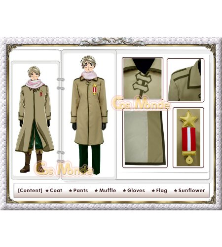 Hetalia - Russia Russian Military Cosplay Costume [Deluxe Set]
