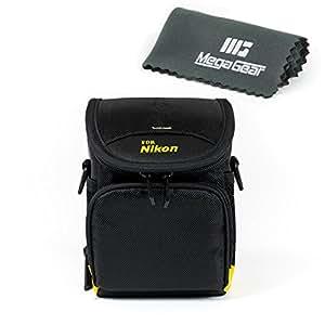 MegaGear ''Ultra Light'' Protective Black Camera RainProof Case Bag for Nikon 1 S1, Nikon 1 J4, Nikon 1 J5, Nikon P7800, Nikon L830, L840, Nikon P530