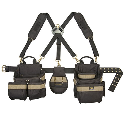 Custom LeatherCraft 1614 23 Pocket, Heavy Duty Framers 5-Piece Comfortlift Combo Tool Belt System (Carpentry Tool Bags compare prices)