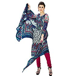 Yati Women's Cotton Printed Multicolor Designer Dress Material