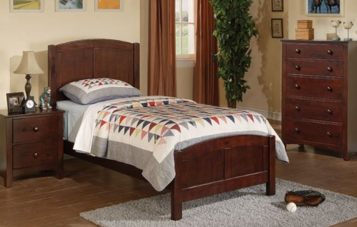 Beautiful Inland Empire Furniture Brown Solid Wood Twin Bed with Bed Set