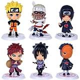 "Naruto Figures 6pcs Set 2.5"" PVC Uzumaki Naruto Uchiha Madara Toys Lot by other"