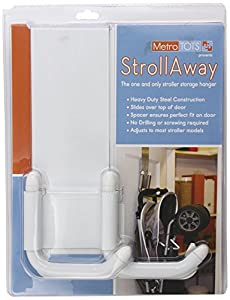 StrollAway Over the Door Stroller Storage Hanger, White